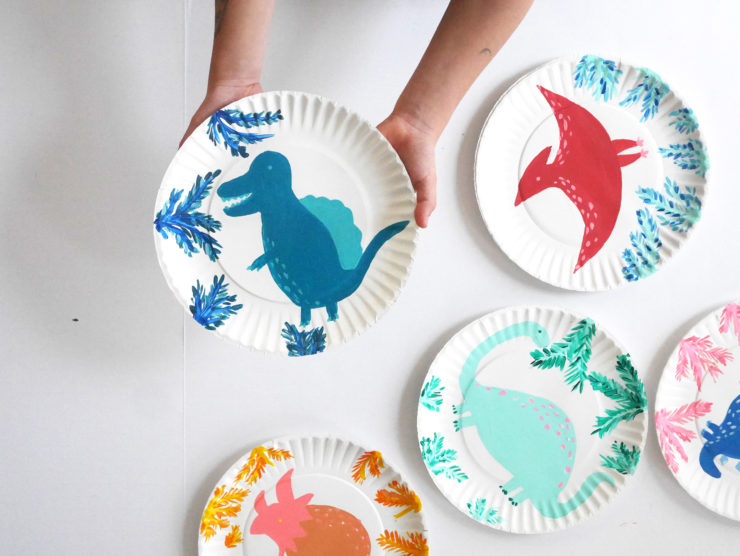 Colorful Dinosaur Painting Activity