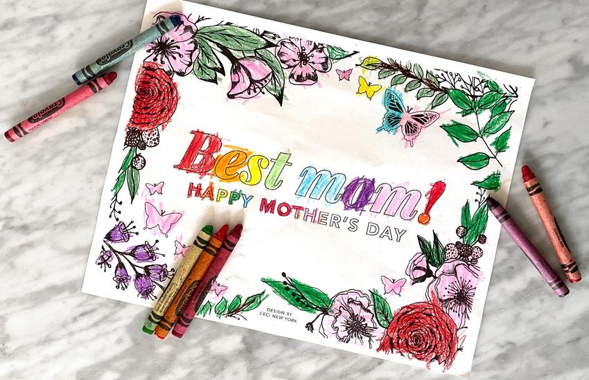 'Best mom!' Placemat