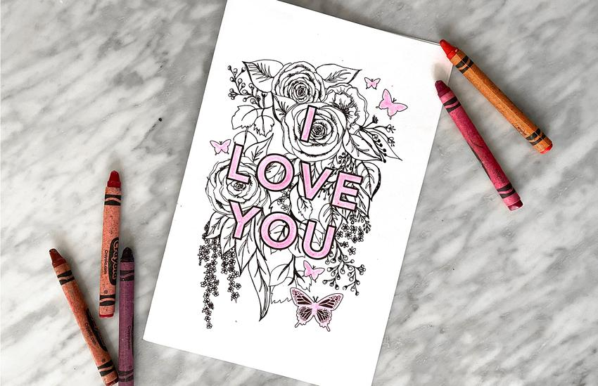 'I Love You' Mother's Day Printable Cards