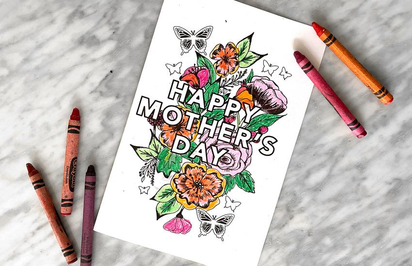 'Happy Mother's Day' Mother's Day Printable Cards