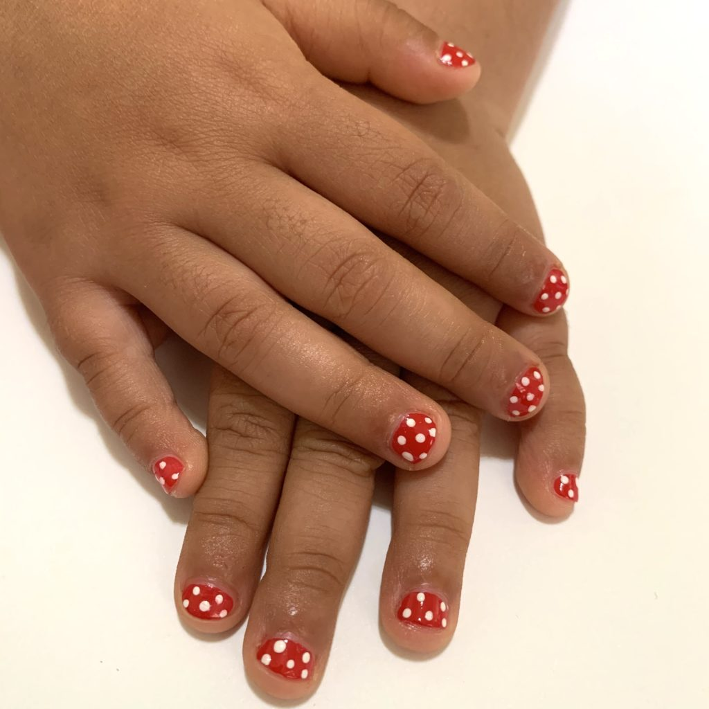 Finished Product from the Mommy & Me nail art tutorial!