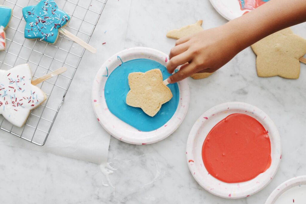 Magical Star-Spangled Banner Cookie Pops Step 5
