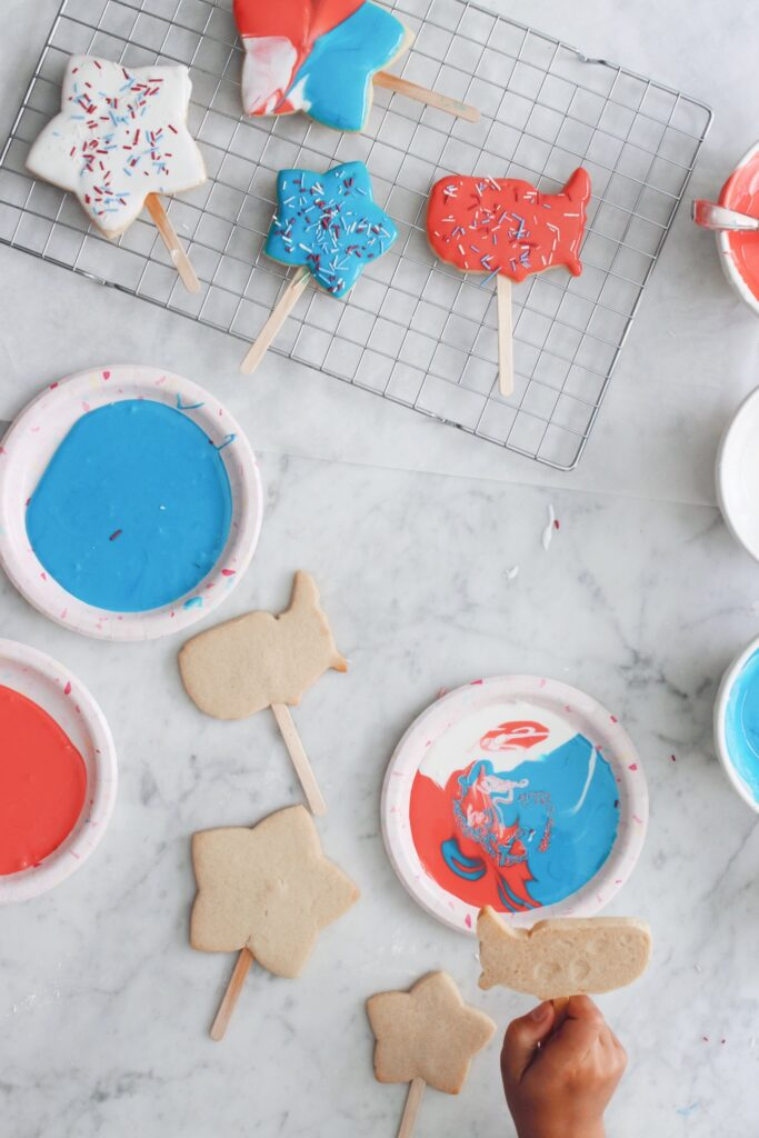 Magical Star-Spangled Banner Cookie Pops Step 4