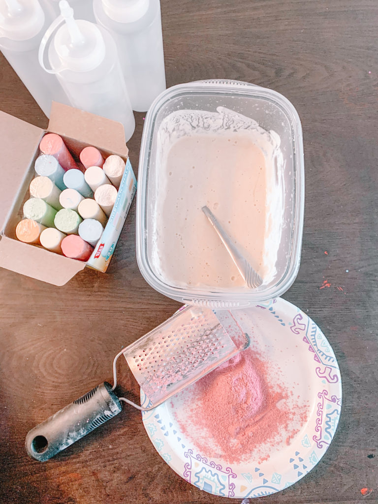 Step 2 DIY Sidewalk Chalk Puffy Paint
