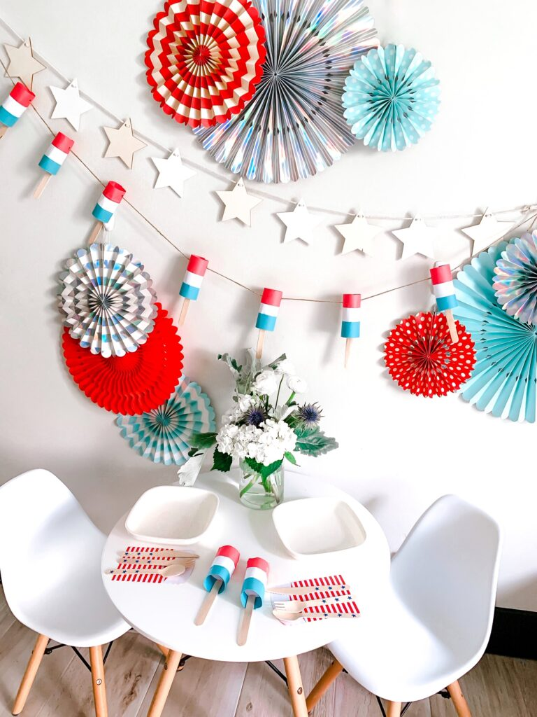 Easy 4th of July Bomb Pop Garland Tutorial Step 5