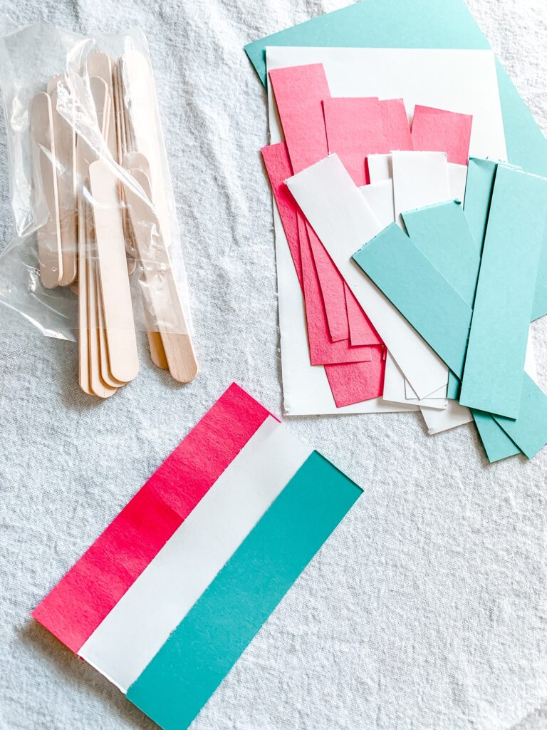 Easy 4th of July Bomb Pop Garland Tutorial Step 1