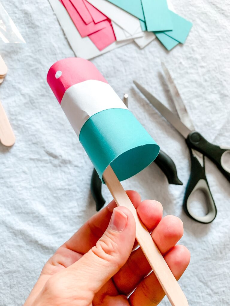 Easy 4th of July Bomb Pop Garland Tutorial Step 3