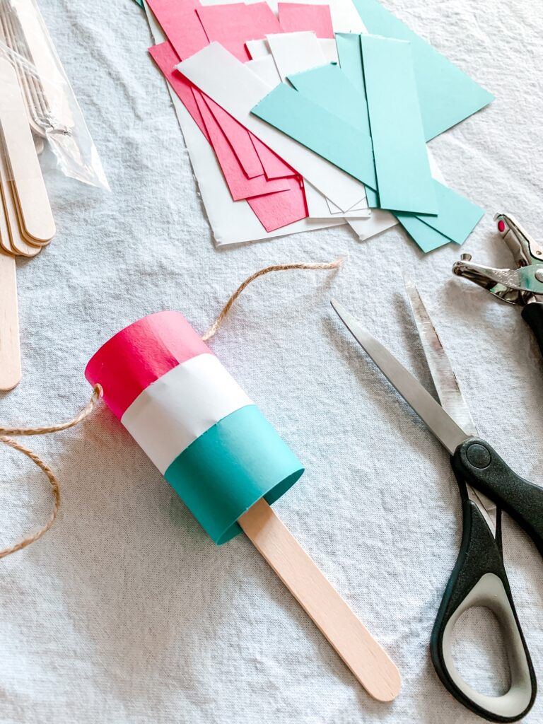 Easy 4th of July Bomb Pop Garland Tutorial Step 4