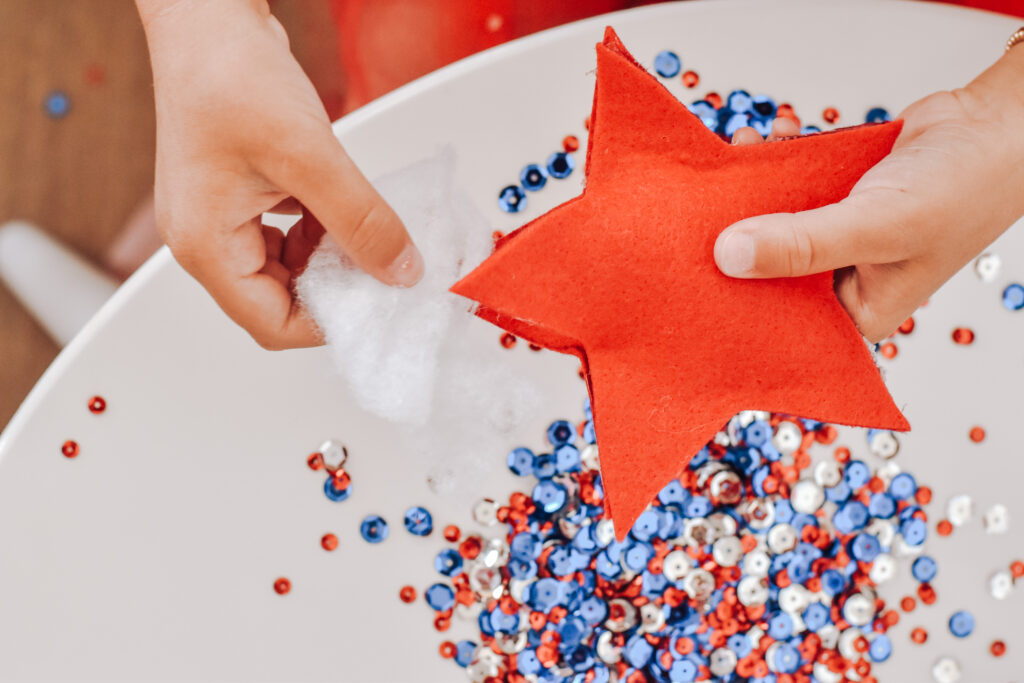 Fourth of July DIY Sparkling Star Wands Step 3