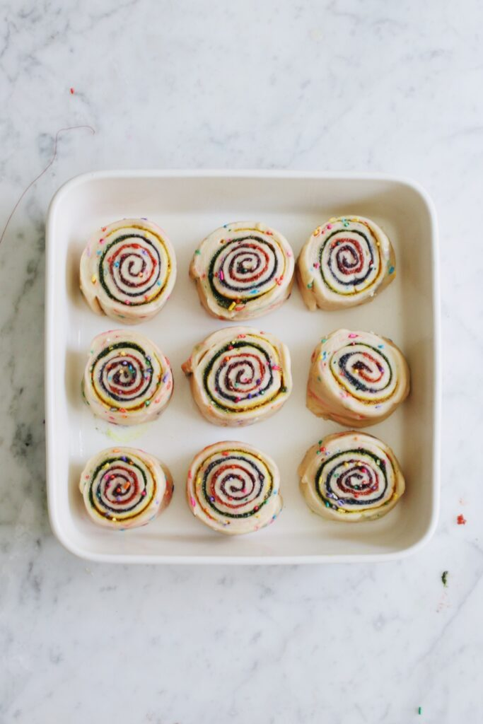 Homemade Rainbow Cinnamon Buns Recipe Step 12