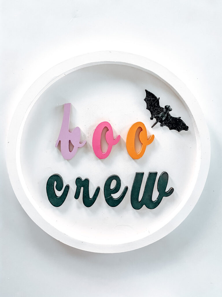 Easy 3 Step DIY Halloween Sign Finished