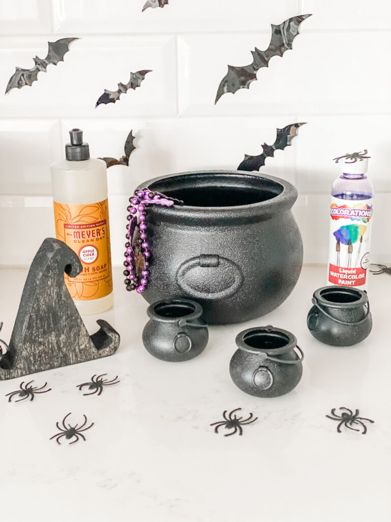 DIY Sensory Witch's Brew Materials