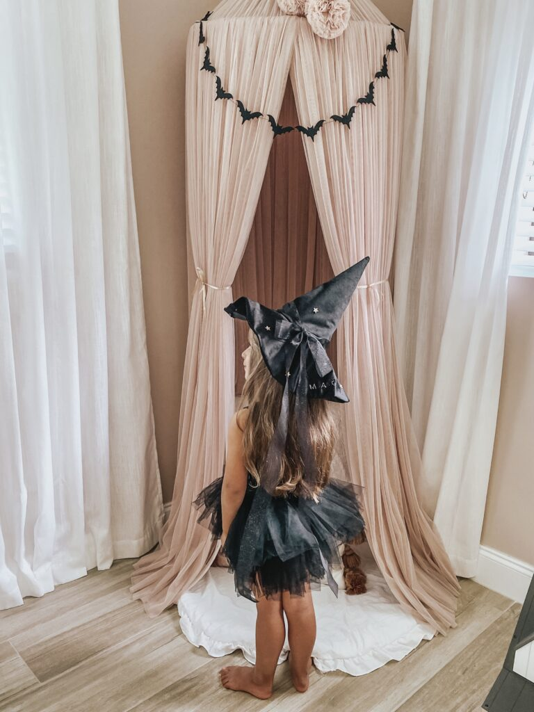 Magical DIY Velvet Witch Hat Wearing