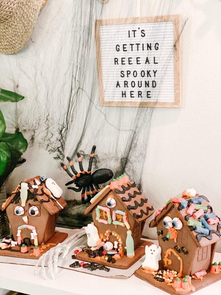 Spooky Gingerbread Houses