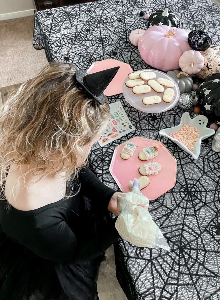 3 Ingredient Halloween Cookie Decorating Activity Step 2