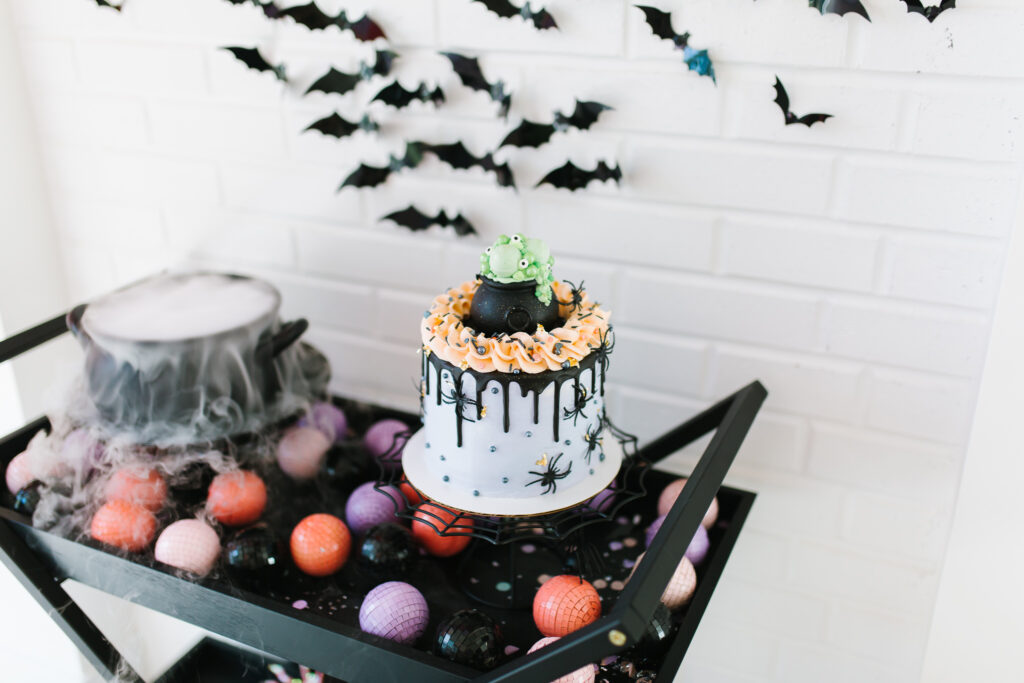 Epic Ghoul Gang Halloween Party Cake