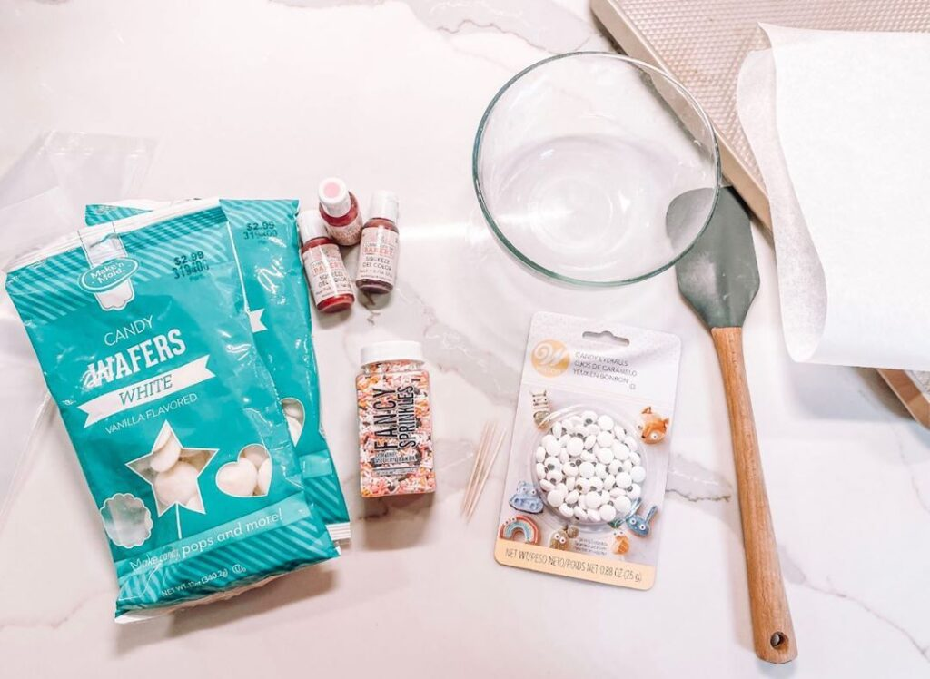 No-So-Scary Pink BOO Bark Recipe ingredients