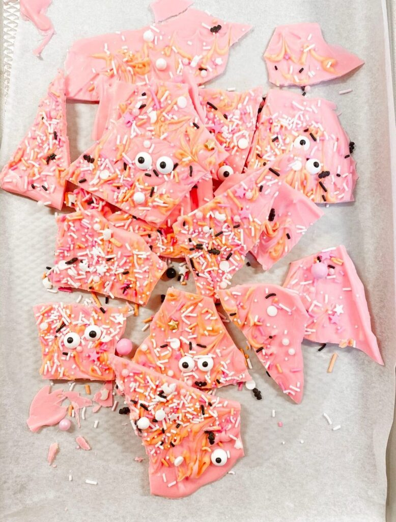 No-So-Scary Pink BOO Bark Recipe Finished