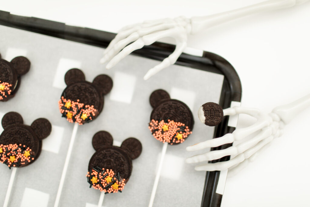 Spooky DIY Mickey Mouse Cookie Pops Step 5