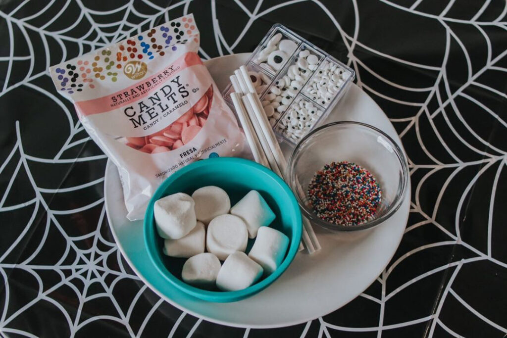 Easy DIY Monster Marshmallow Pops Materials