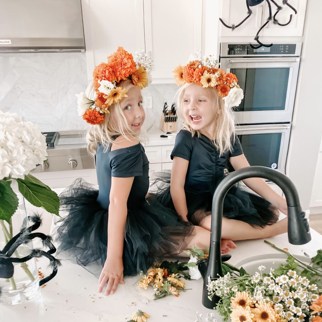Boo-tiful DIY Bloom Crowns Finished