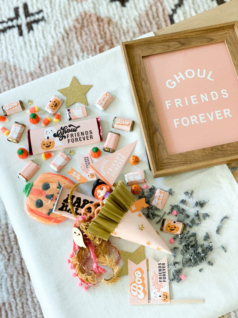 Ghoul Friends Printable Halloween Candy Wrappers + Ghoul Friends Forever Poster