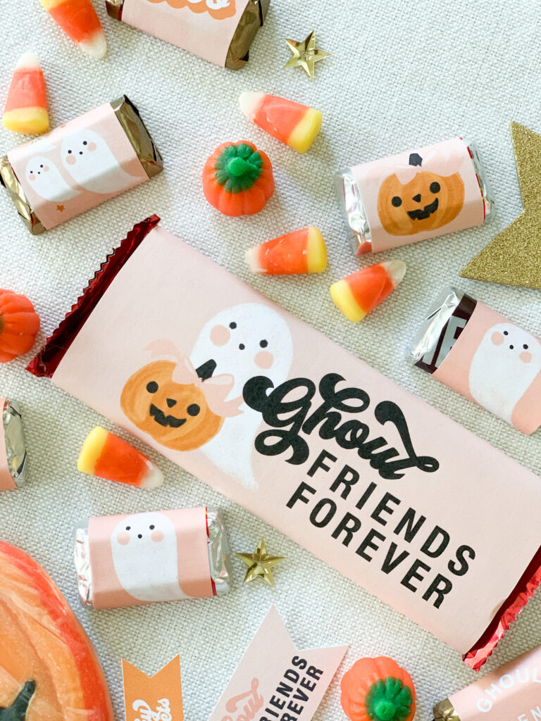Ghoul Friends Printable Halloween Candy Wrappers 1