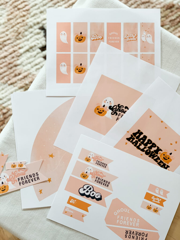 Ghoul Friends Printable Halloween Candy Wrappers Print outs
