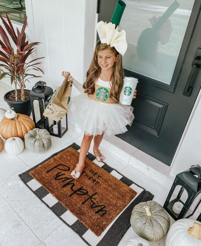 DIY Starbucks Cup Costume Finished
