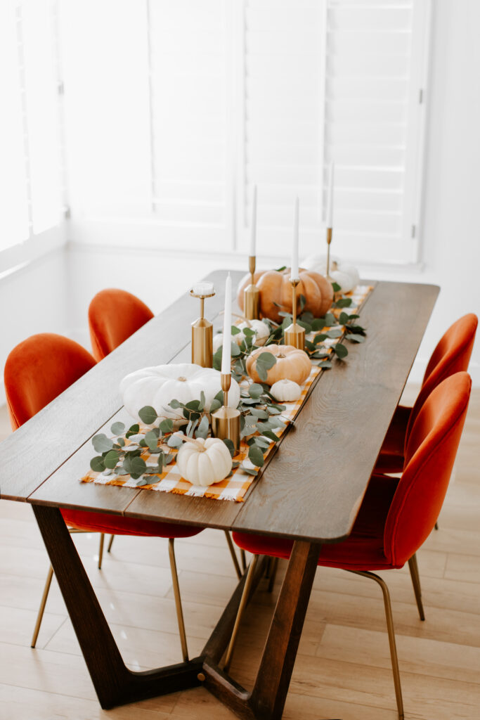 Thanksgiving Centerpiece Tutorial Table