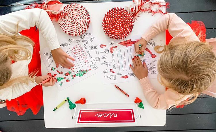 @shanjohnson85 Girls Coloring the FREE Letter To Santa Printable
