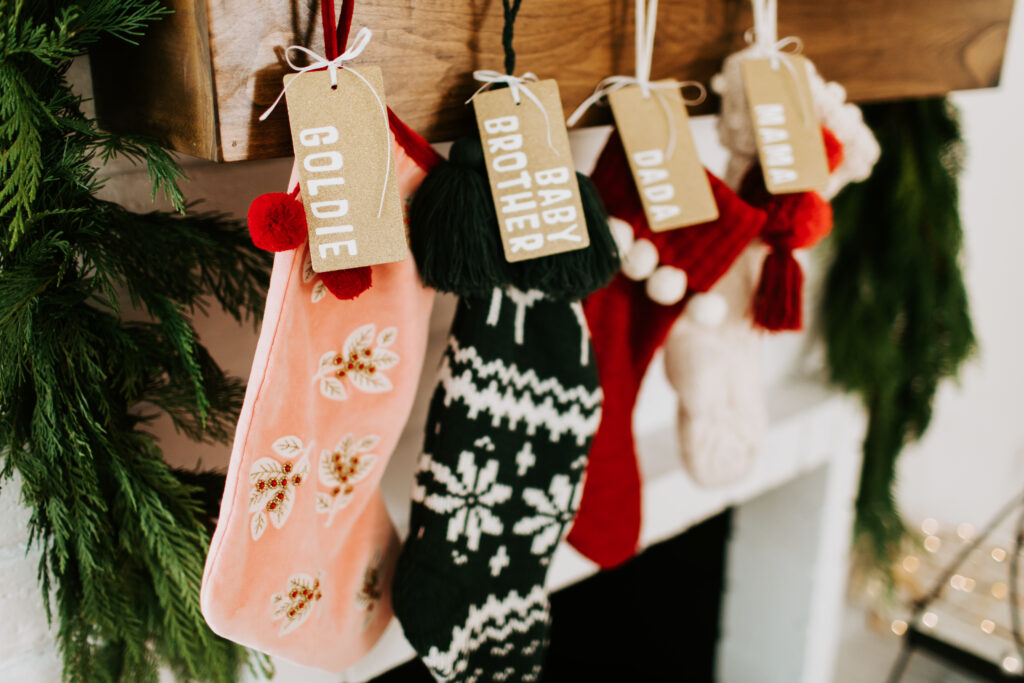 Easy 4 Step DIY Stocking Tags Finished