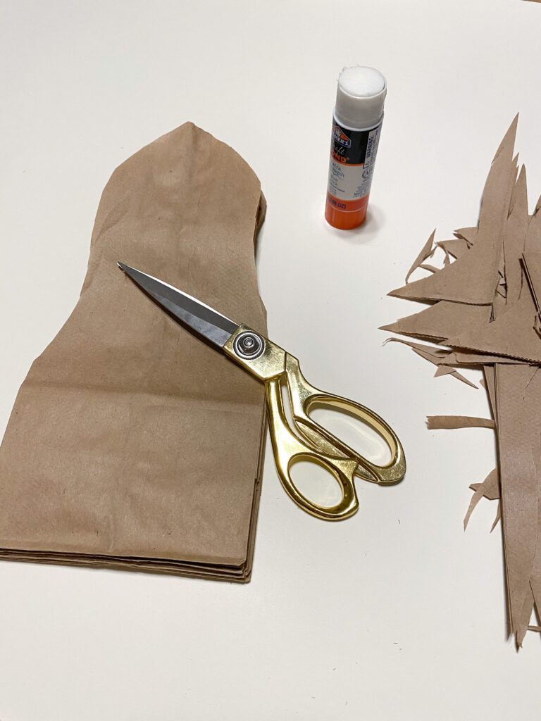 DIY Paper Bag Stars Step 3
