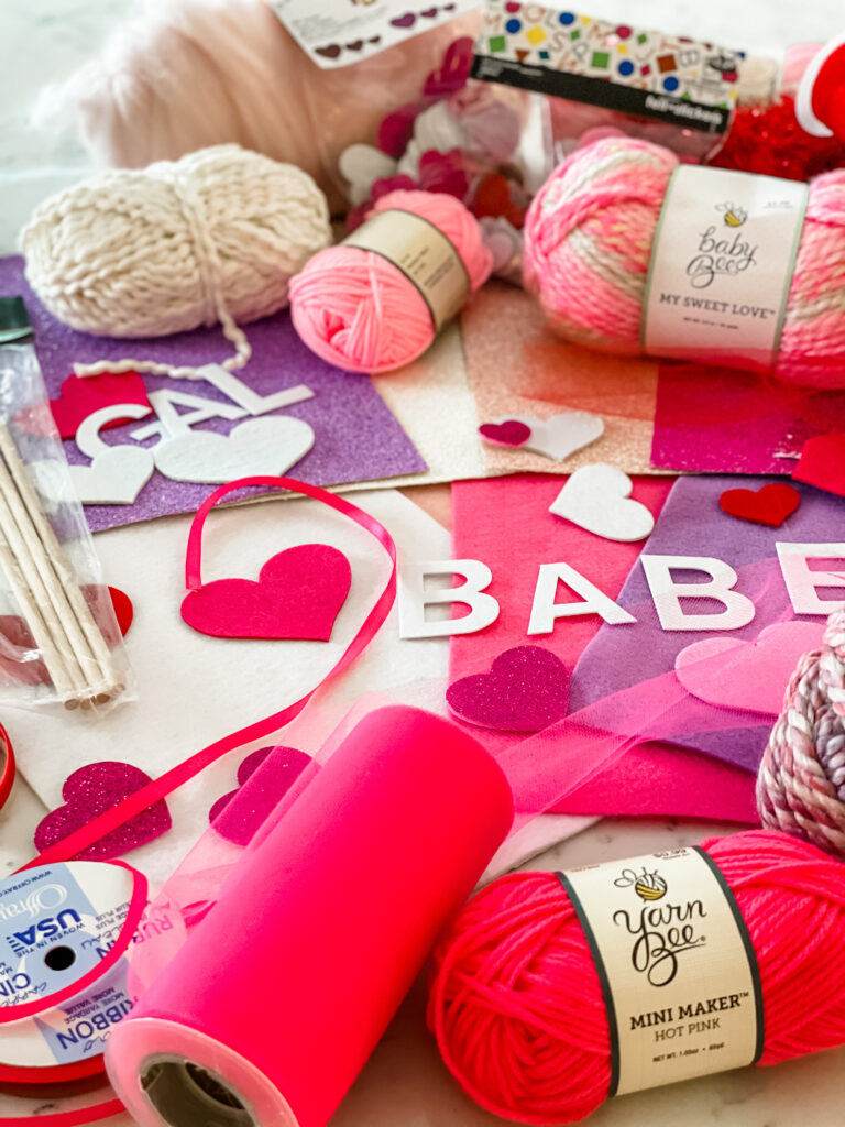 DIY Valentine's Day Flags Materials