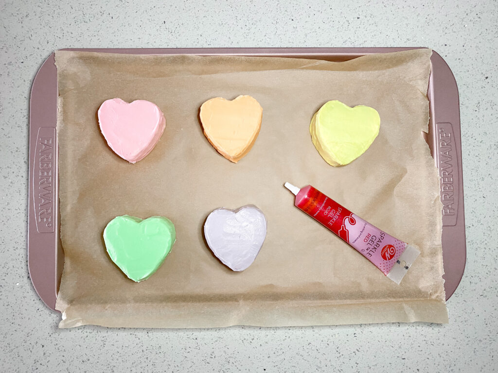 Valentine's Day Conversation Heart Cupcakes Recipe Step 6