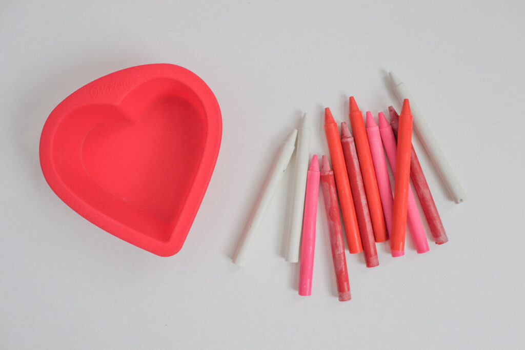 DIY Heart Crayons Step 1
