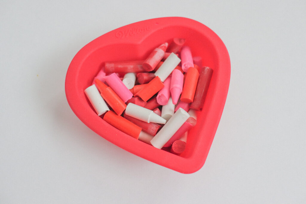 DIY Heart Crayons Step 2