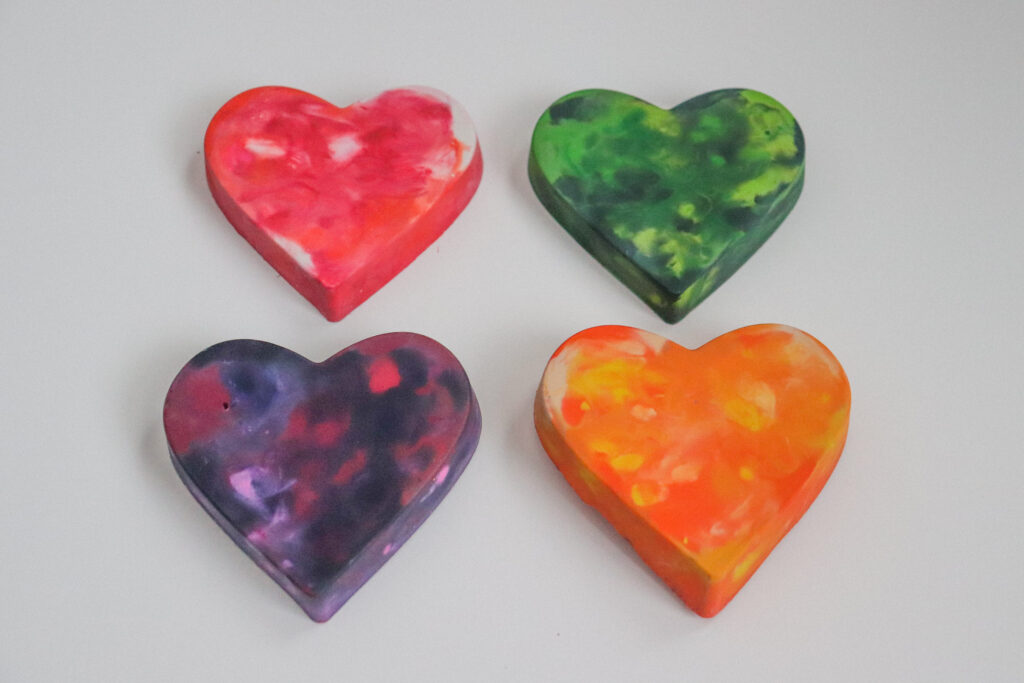 DIY Heart Crayons Step 3