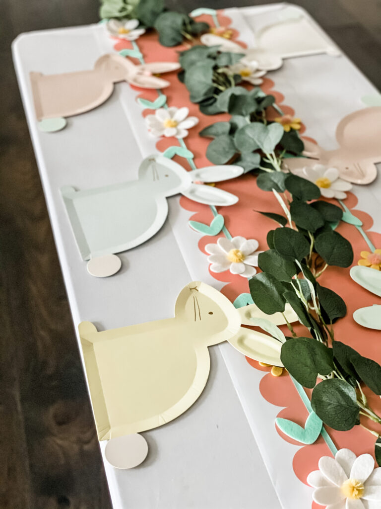 Easy & Adorable Easter Bunny Tea Party Tablescape Step 4d