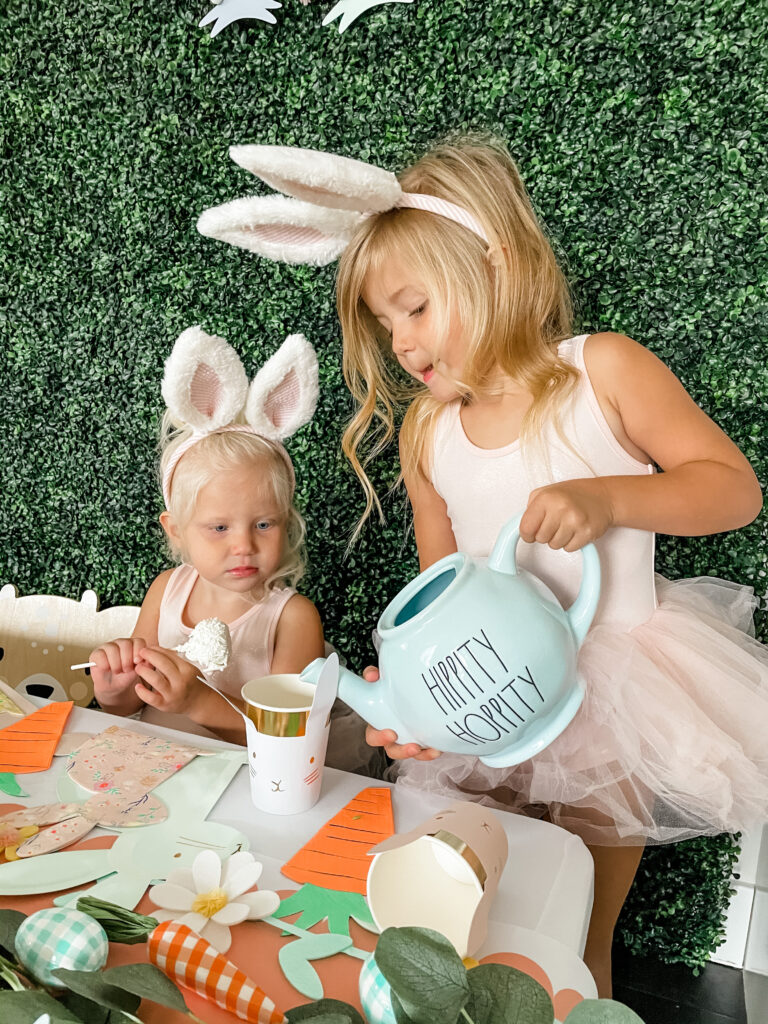 Easy & Adorable Easter Bunny Tea Party Tablescape Finished