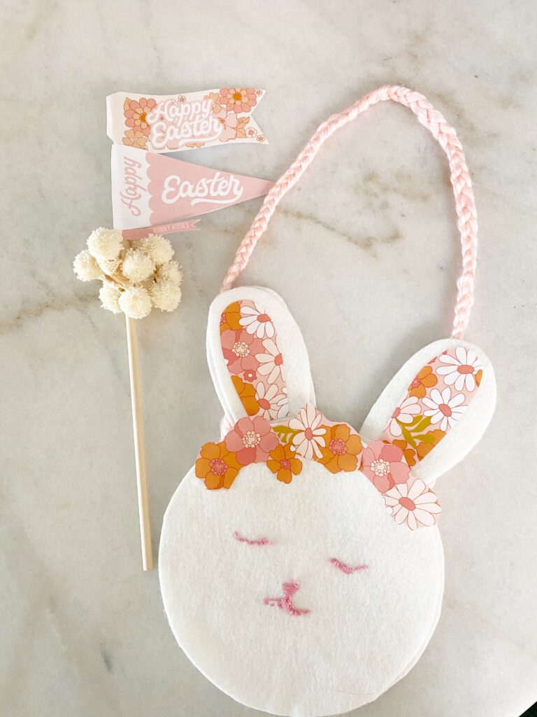 No-Sew Bunny Bag FInished
